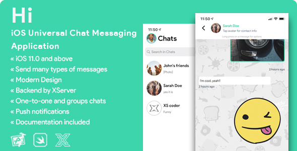 [Free Download] HI | iOS Private Chat Messaging Application [XServer] (Nulled) [Latest Version]