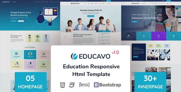 [Free Download] Educavo – Education HTML Template (Nulled) [Latest Version]