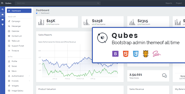 [Free Download] Qubes – Bootstrap Admin Template (Nulled) [Latest Version]