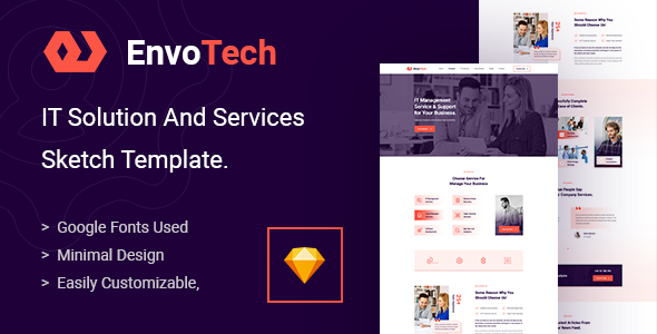 [Free Download] EnvoTech – IT Solution and Services Sketch Template (Nulled) [Latest Version]
