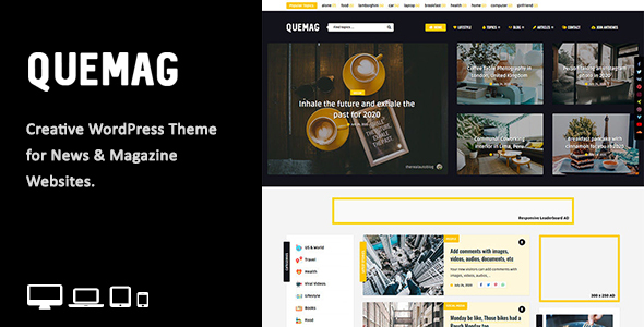 [Free Download] Quemag – Creative WordPress Theme for Bloggers (Nulled) [Latest Version]