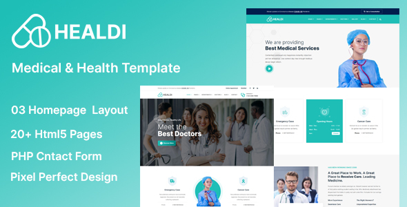[Free Download] Healdi – Medical & Health Template (Nulled) [Latest Version]