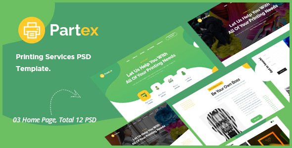[Free Download] Partex – Printing Services PSD Template (Nulled) [Latest Version]