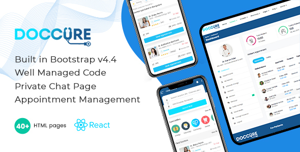 [Free Download] Doccure – Bootstrap React Template (Nulled) [Latest Version]
