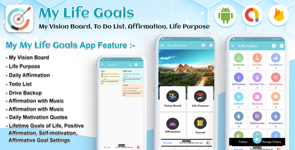 [Free Download] Android My Life Goals – My Vision Board, To Do List, Affirmation, Life Purpose, Goal tracker (Nulled) [Latest Version]