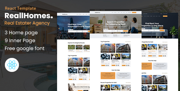 [Free Download] ReallHomes – Real Estate & Property Agency React Template (Nulled) [Latest Version]