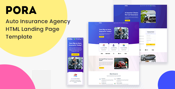 [Free Download] Pora – Auto Insurance Agency HTML Landing Page Template (Nulled) [Latest Version]