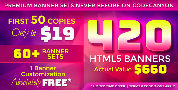 [Free Download] Premium Banner Bundle – 420 Animated HTML5 Banner Templates (Nulled) [Latest Version]