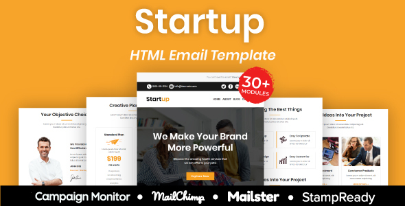 [Free Download] Startup – Multipurpose Responsive Email Template 30+ Modules Mailchimp (Nulled) [Latest Version]