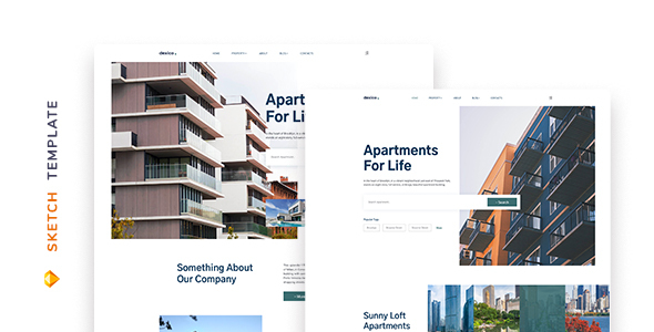 [Free Download] Dexico – Apartment Rent Template for Sketch (Nulled) [Latest Version]