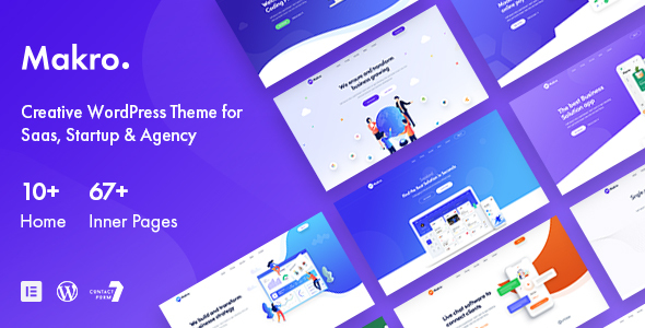 [Free Download] Makro – Creative WordPress Theme For Saas & Startup (Nulled) [Latest Version]