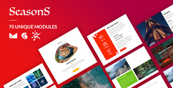 [Free Download] Seasons Email-Template + Online Builder (Nulled) [Latest Version]