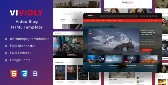 [Free Download] Vividly | Video Blog HTML Template (Nulled) [Latest Version]