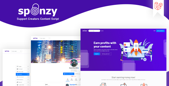 [Free Download] Sponzy – Support Creators Content Script (Nulled) [Latest Version]