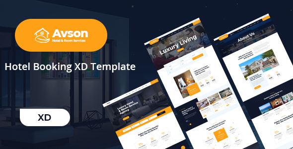 [Free Download] Avson – Hotel Booking XD Template (Nulled) [Latest Version]