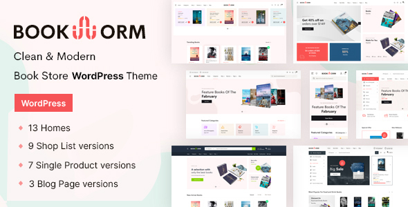 [Free Download] Bookworm – Bookstore & Bookshop WooCommerce Theme (Nulled) [Latest Version]