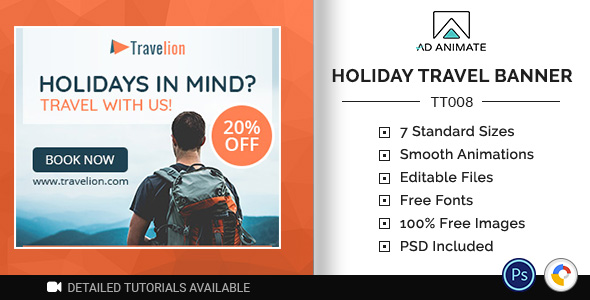 [Free Download] Tour & Travel   Holiday Travel Banner (TT008) (Nulled) [Latest Version]