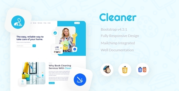 [Free Download] Cleaner Landing Page (Nulled) [Latest Version]