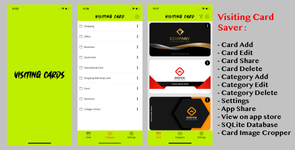 [Free Download] Visiting Card Saver (Nulled) [Latest Version]