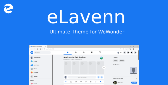 [Free Download] eLavenn – The Ultimate WoWonder Theme (Nulled) [Latest Version]