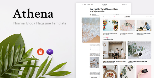 [Free Download] Athena – Minimal Blog/Magazine HTML Template (Nulled) [Latest Version]
