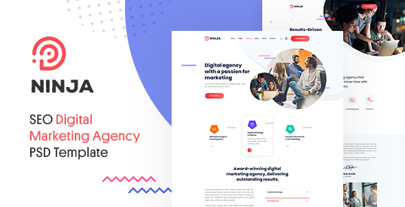 [Free Download] Ninja – SEO & Digital Agency Marketing PSD Template (Nulled) [Latest Version]