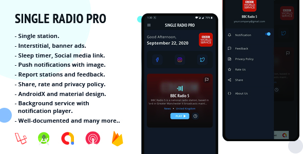 [Free Download] Single Radio Pro | Radio App with Admin Panel (Nulled) [Latest Version]