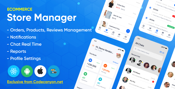 [Free Download] Store Manager – React Native Application for WordPress Woocomerce. (Nulled) [Latest Version]