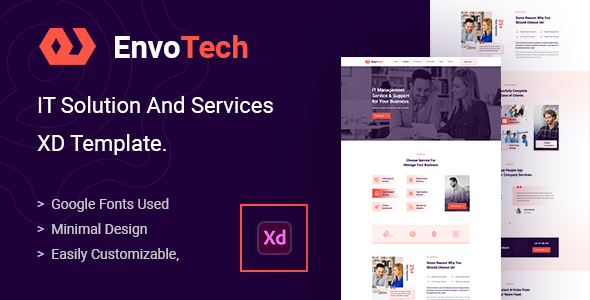 [Free Download] EnvoTech – IT Solution and Services XD Template (Nulled) [Latest Version]