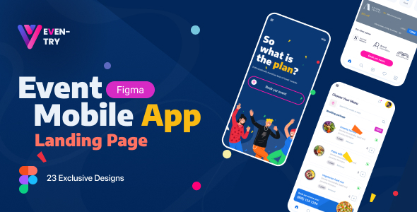 [Free Download] EvenTry | Online Event Management Mobile App Figma Template (Nulled) [Latest Version]