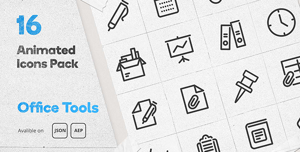 [Free Download] Office Tools Animated Icons Pack – Lottie Json Animation SVG (Nulled) [Latest Version]
