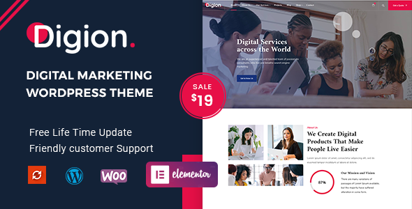 [Free Download] Digion – Online Digital Marketing WordPress Theme (Nulled) [Latest Version]