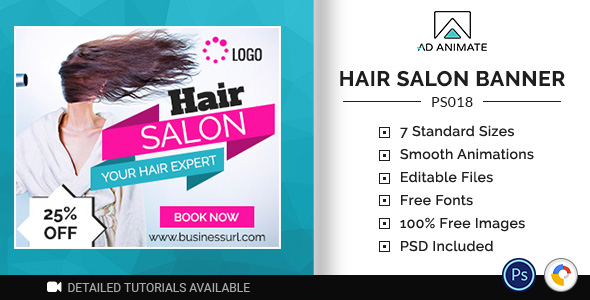 [Free Download] Professional Services | Hair Salon Banner (PS018) (Nulled) [Latest Version]
