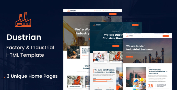 [Free Download] Dustrian – Factory & Industrial HTML Template (Nulled) [Latest Version]