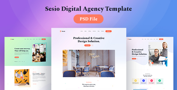 [Free Download] Sesio – Digital Agency PSD Template (Nulled) [Latest Version]