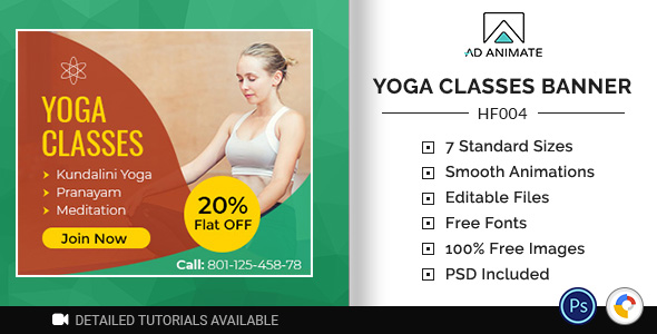 [Free Download] Health & Fitness   Yoga Classes Banner (HF004) (Nulled) [Latest Version]