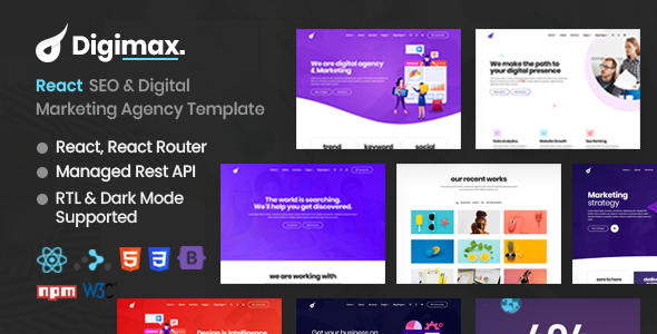 [Free Download] Digimax – React SEO & Digital Marketing Agency Template (Nulled) [Latest Version]