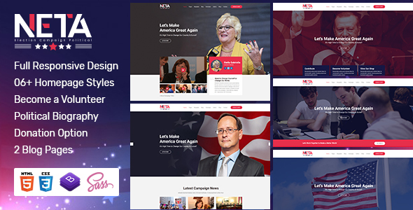 [Free Download] Neta – Election Campaign  And Political Candidate  HTML Template (Nulled) [Latest Version]