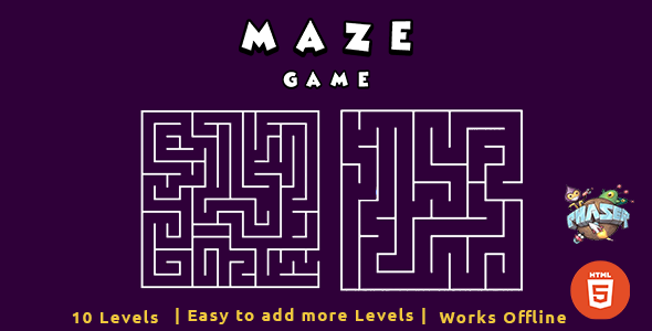 [Free Download] HTML5 Maze Game – Phaser Game (Nulled) [Latest Version]