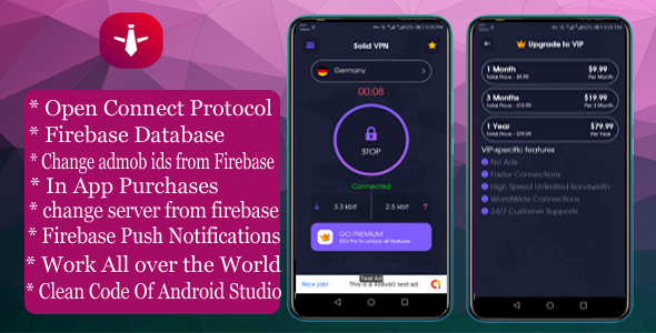 [Free Download] Solid VPN With Firebase Database And OPEN CONNECT PROTOCOL (Nulled) [Latest Version]