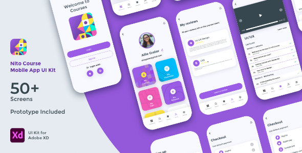 [Free Download] Nito Course Mobile App UI Kit (Nulled) [Latest Version]