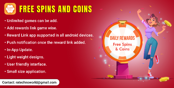 [Free Download] Daily Rewards – Free Spins & Coins For Games (Nulled) [Latest Version]