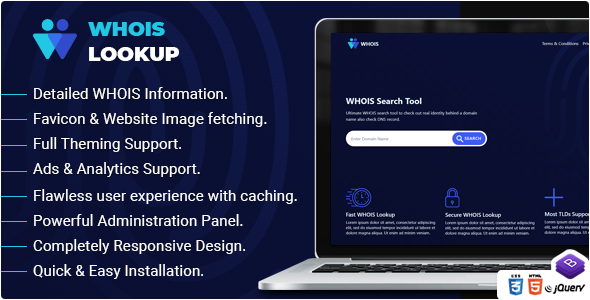 [Free Download] Whois Lookup – PHP Whois Script (Nulled) [Latest Version]