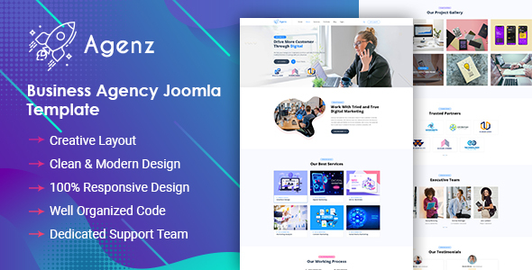 [Free Download] Agenz – Creative Business Agency Joomla Template (Nulled) [Latest Version]