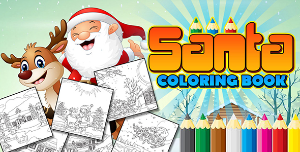 [Free Download] Santa Coloring Book App (CAPX and HTML5) (Nulled) [Latest Version]