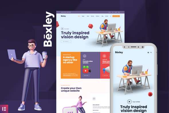[Free Download] Bexley – Digital Marketing Agency Template Kit (Nulled) [Latest Version]