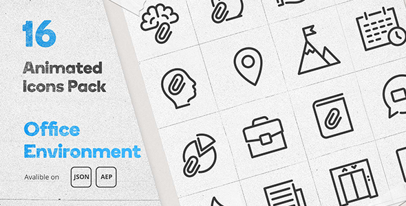 [Free Download] Office Environment Animated Icons Pack – WordPress Lottie Json Animation SVG (Nulled) [Latest Version]