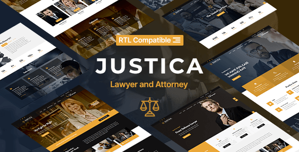 [Free Download] Justica – Lawyer, Attorney and Law Firms Website Template (Nulled) [Latest Version]