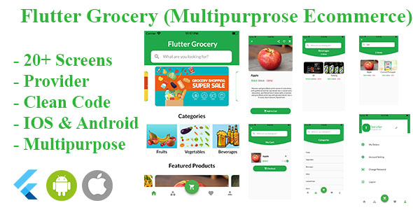 [Free Download] Flutter Grocery ( Multipurpose e-commerce) (Nulled) [Latest Version]