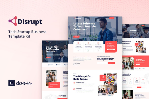 [Free Download] Disrupt – Tech Startup Business Elementor Template Kit (Nulled) [Latest Version]